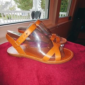 Madewell 1937 strappy tan sandals EUC